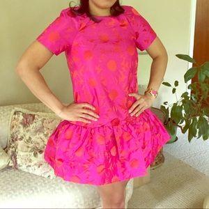 ASOS Floral taffeta Shift Dress - 6